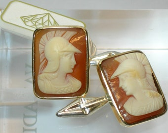 """Cufflinks for men with cameos """"Guerriero"""""""