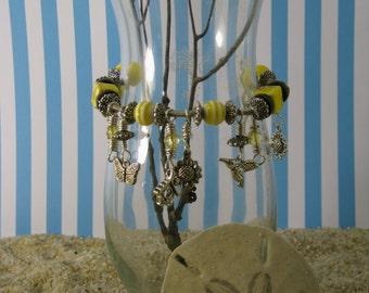 Wire Wrapped Spring Charm Bracelet
