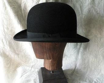 3f6a928a50d French vintage black bowler hat - period hat - gentleman s hat - vintage hat  - antique bowler hat - derby hat - period drama