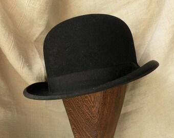 cbc06283a8e French vintage black bowler hat