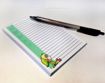 Legend of Zelda Link Notepad - MADE TO ORDER