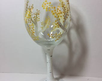 Birch Tree Wine Glass
