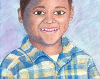 Custom Portrait- Original Pastel Drawing