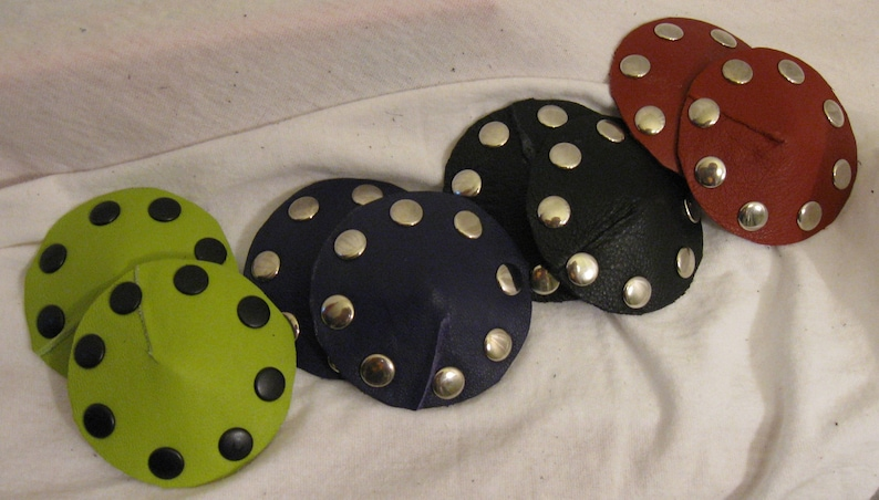 Studded Leather Pasties in Multiple Colors image 0