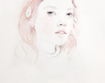 Caitlin - Limited Edition A4 Watercolour Print