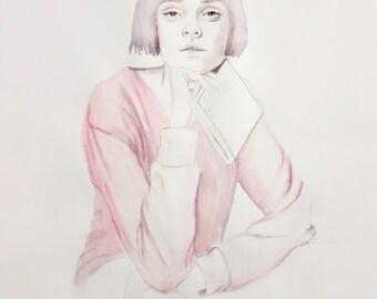Lottie - Limited Edition Watercolour Print
