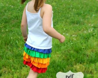 The Perfect Cartwheel Ruffle Shorts PDF Sewing Pattern