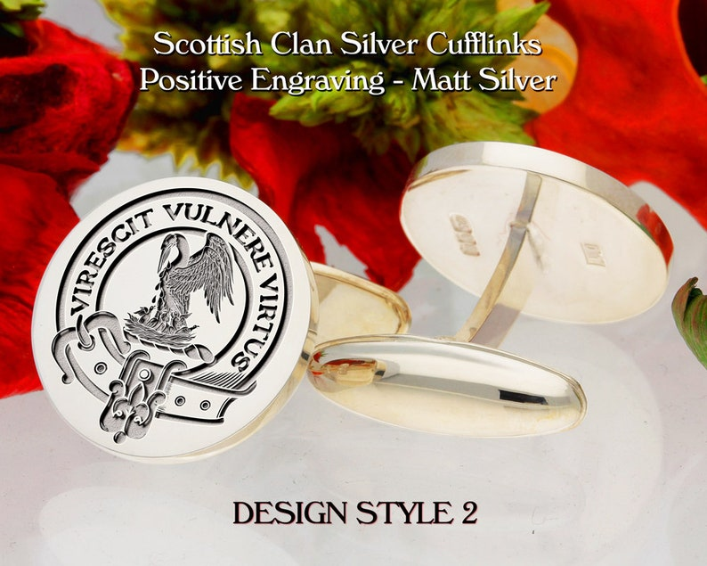 Select Gifts Stewart Scotland Heraldry Crest Sterling Silver Cufflinks Engraved Message Box