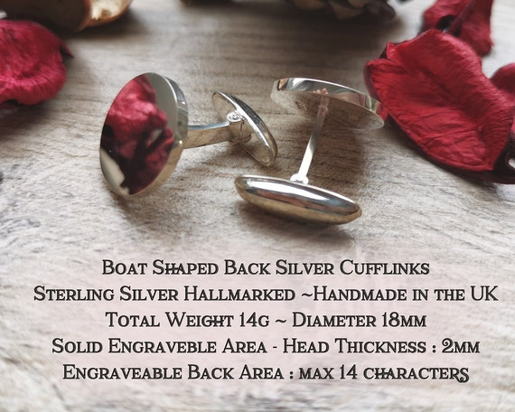 laser engraved and handmade in the UK bespoke hand drawn design Edinburgh Castle Scotland Silver Cufflinks