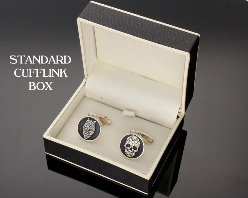 Scottish Thistle and Irish Clover Silver Cufflinks laser engraved and handmade in the UK wedding gift for groom or best man