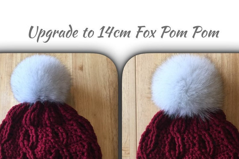 8a365c6d816 ADD ON REPLACEMENT 14 cm Fox Fur Pom Pom on existing Canada