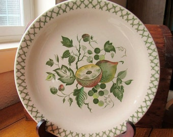 """Johnson Bros Vintage Arbor Green 10"""" Dinner Plate Made In England Add On or Replacement Dish"""