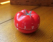 Vintage Tomato Kitchen Timer Made In Italy Mid Century Free Shipping