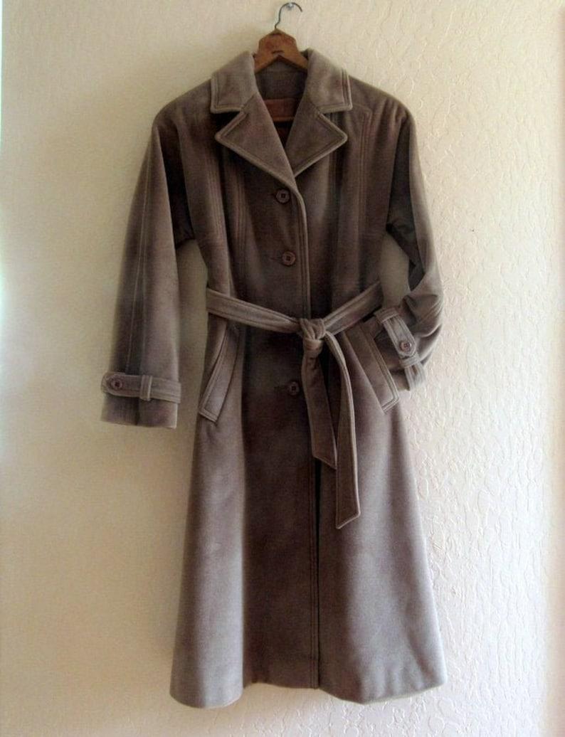 Ladies Full Length Cashmere Wool Coat Vintage Juli de Roma image 0