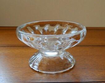 8 Ice Cream Social Dishes Vintage Libbey Glass Soda Fountain Pedestal Design Farmhouse Party Bowls