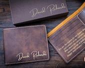 Mens wallet Personalized wallet Mens gift wallet Custom wallets Minimalist wallet Slim wallets Bifold wallet