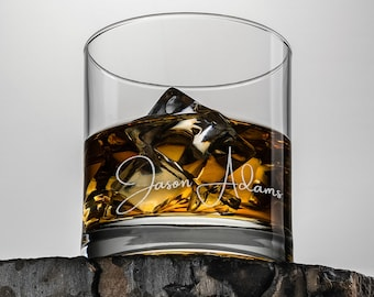 Whiskey glass 11 oz - comes with set of 3 complimentary stones.