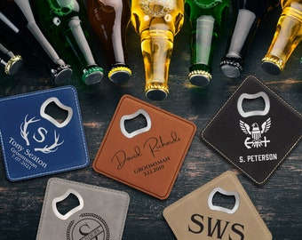Coaster with bottle opener - Optional bottle opener and beer glass set.