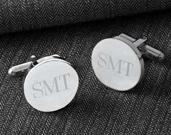 Personalized Cufflinks, Groomsmen Gift, Wedding Gift, Custom Cufflinks, Engraved Cufflinks, Gift for Him, Father's Day Gift, GC1301