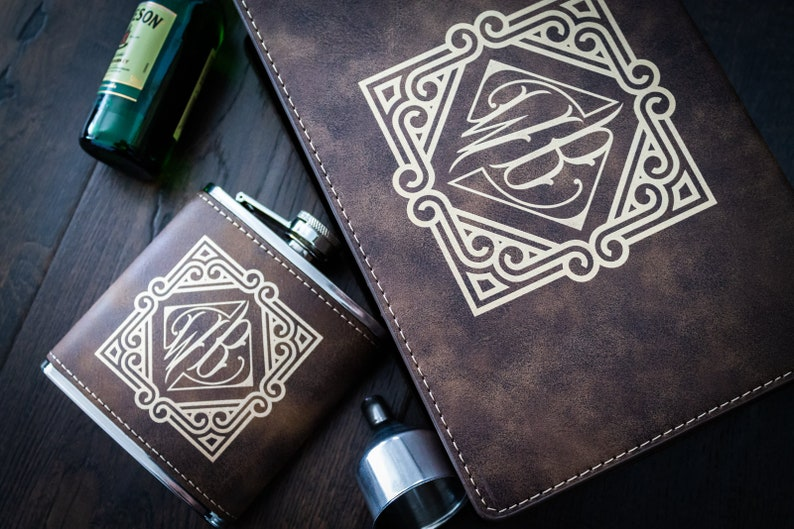friends or family members. Leather flask Personalized flask is a great bachelor party gift for your groomsmen