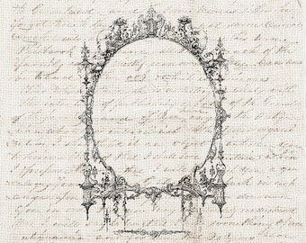 Vintage Frame Digital Download Antique Ornate Frame Clipart Design Element Graphic Printable Craft Transfer Scrapbook INSTANT DOWNLOAD