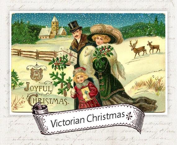 Christmas Postcards.Digital Christmas Postcards Antique Vintage Christmas Postcard Victorian Christmas Card Christmas Cards Instant Download