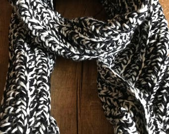 Black + White Marble Scarf