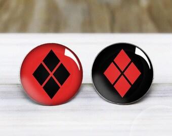Harley Quinn Stud Earrings - Suicide Squad - Hypoallergenic Earrings for Sensitive Ears