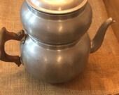 Enterprise Aluminum antique Coffee Pot - Antique - 10 39 39 Tall by 11 39 39 wide