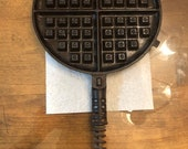 Antique Griswold cast iron waffle iron paddle half section - Wall Decor Only