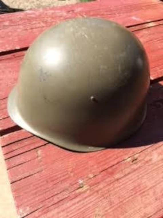 Army Helmet : Antique Military Army Helmet with Le