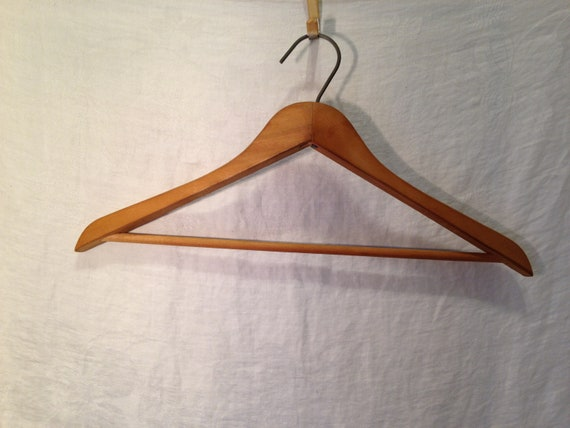 Dad or Grandpa Wooden hanger Eatons company vintage wooden hanger Hudsons Bay vintage price sticker attached  great gift for father