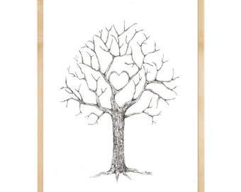 Fingerprint Tree Etsy