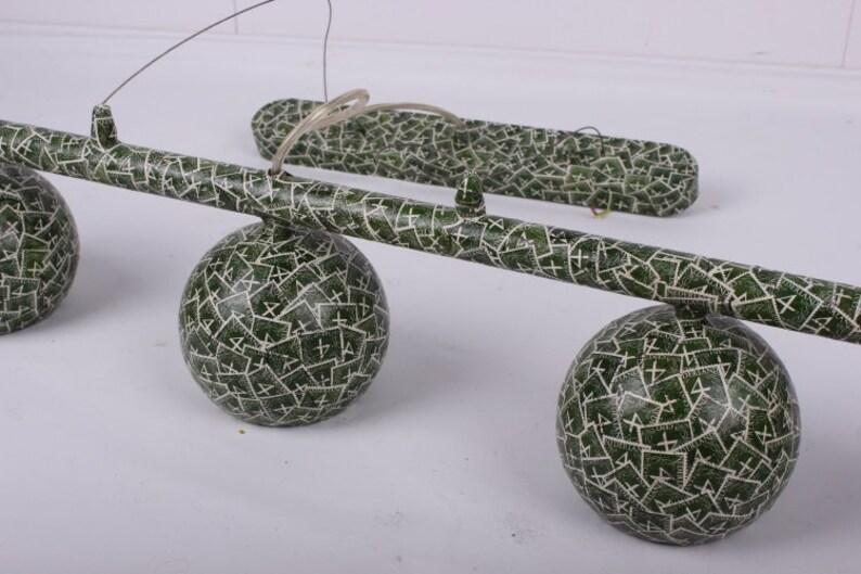Plafoniere Scale : Retro green plafoniere with balls etsy