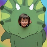Dinosaurs, Dinosaur Party, Photo Prop, Dinosaur Photo Stand In, Head in the Hole, INSTANT DOWNLOAD, Triceratops DIY Printable, Jurassic Park