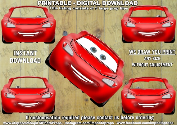 50s Car INSTANT DOWNLOAD DIY 60s Car Bright Red Retro Car Prop file Printable Retro Car Prop Decor Perfect for Grease Theme Party