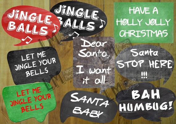 Naughty Christmas Photo Booth Props Christmas Props Christmas Etsy