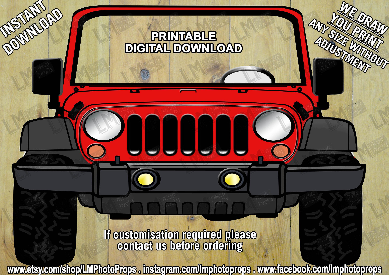 Roten Jeep Stil Fotostand Stütze Auto-Prop Autos rotes | Etsy