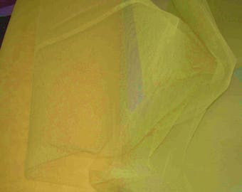 FABRIC TULLE NYLON yellow width 1.40 m 1 m for decorating clothing show pr price