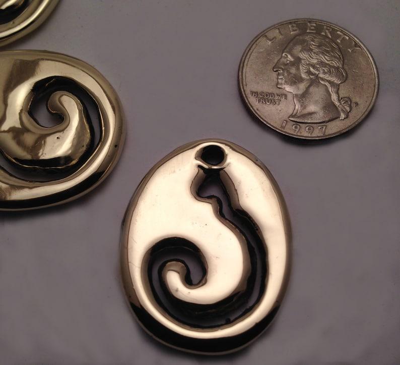 Cast Polished Bronze ShopKat Pendants image 0