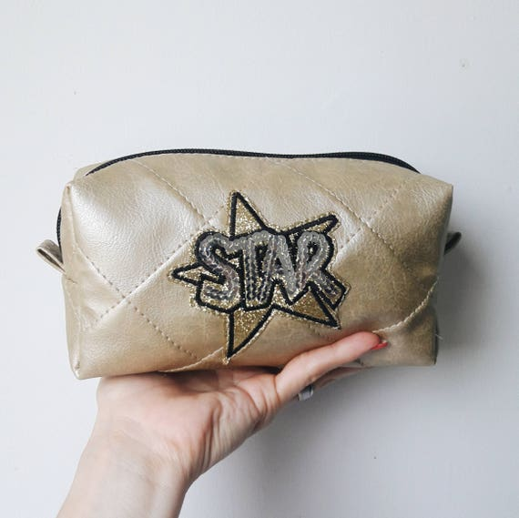 Gold makeup brush holder. Makeup brush pouch. Star patch make 899b22bfd1