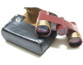 RARE Vintage USSR Russian Opera Glasses Theater 39 s Binocular 2.5x In Leather Case