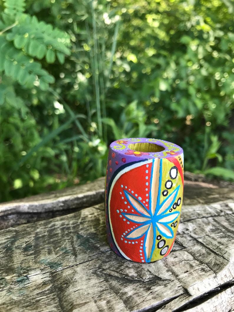 Hand Painted Dread Bead