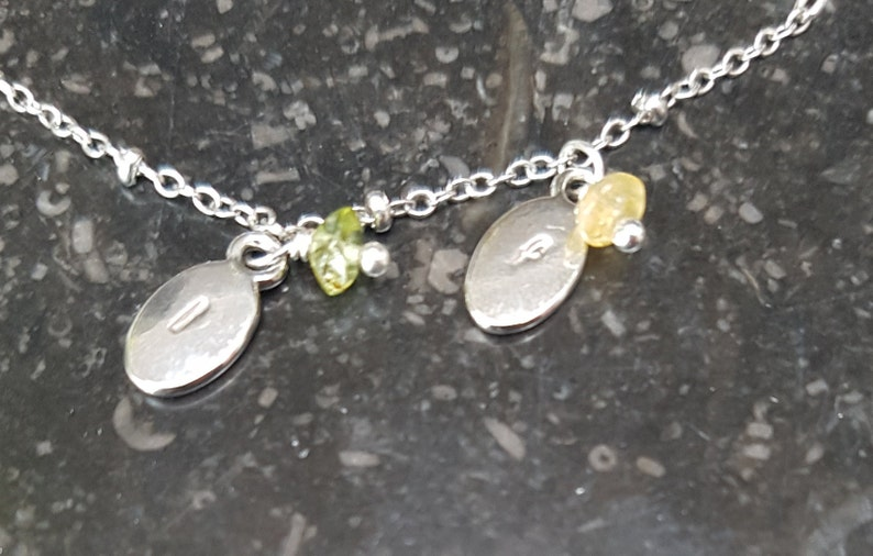 with charm silver or s child and birth stone Handmade personalised bracelet golden rose s