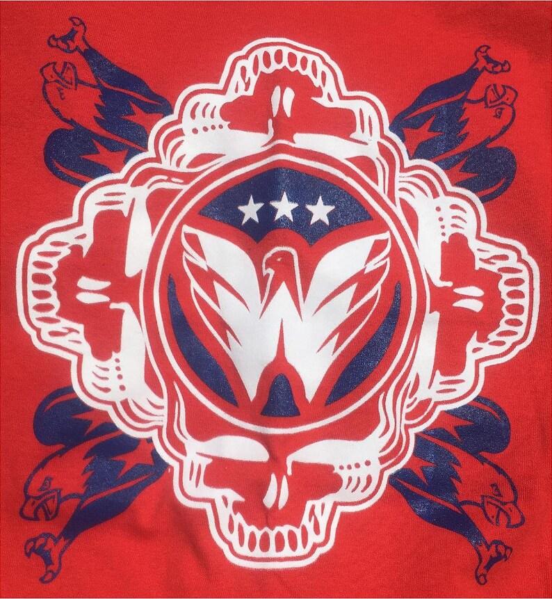 6358416bb Grateful Dead inspired Washington Capitals Tee Shirt