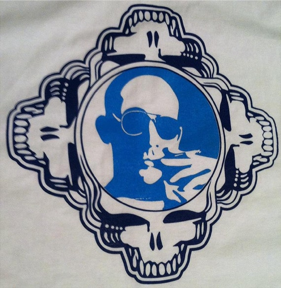 Grateful Dead Hunter S Thompson Tee Shirt Etsy
