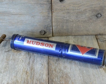 Vintage Bug Sprayer Blue Hudson Duster, Man Cave/Garage/Garden/Shed Decor Father's Day Gift, Gift for Dad, Advertising Collectible Wall Art