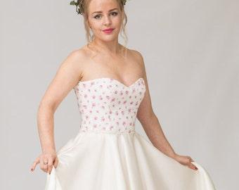 Floral wedding dress sample