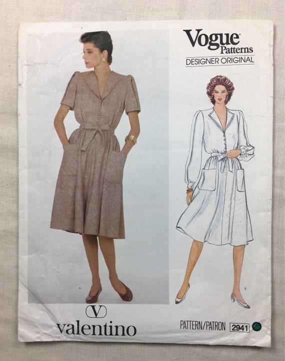 Vogue 2941 Vintage Valentino Misses\' Culotte Dress | Etsy