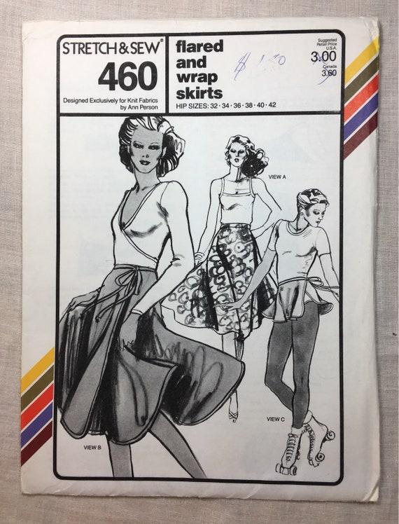 Vintage 70er Jahre Stretch & Nähen 460 wickeln Sie Rock | Etsy